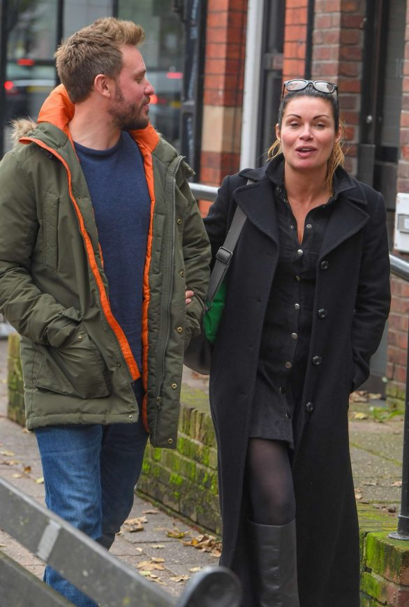 Alison King with her fiance David Stuckley in Alderley Edge Cheshire