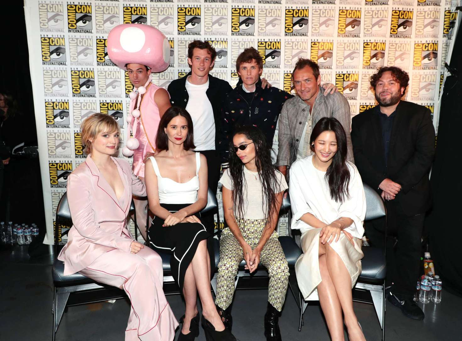 Alison Sudol Katherine Waterston Zoe Kravitz - Warner Bros. Presentation at 2018 Comic-Con in San Diego
