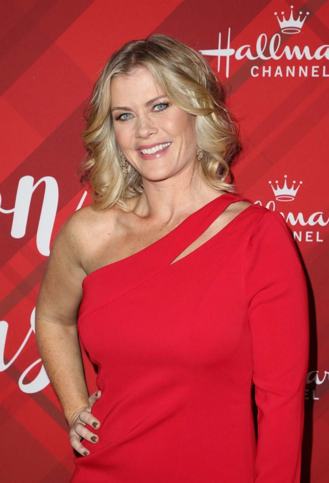 Christmas With Holly.Alison Sweeney Christmas At Holly Lodge Screening In La