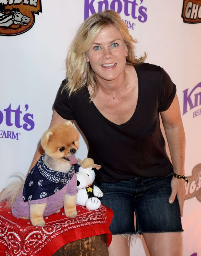 Alison Sweeney - GhostRider Reopening at Knott's Berry Farm in Buena Park