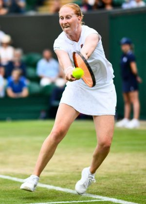 Alison Van Uytvanck - 2018 Wimbledon Tennis Championships in London Day 4
