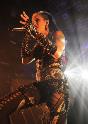 Alissa White-Gluz - 'Arch Enemy' Performing at KOKO in London