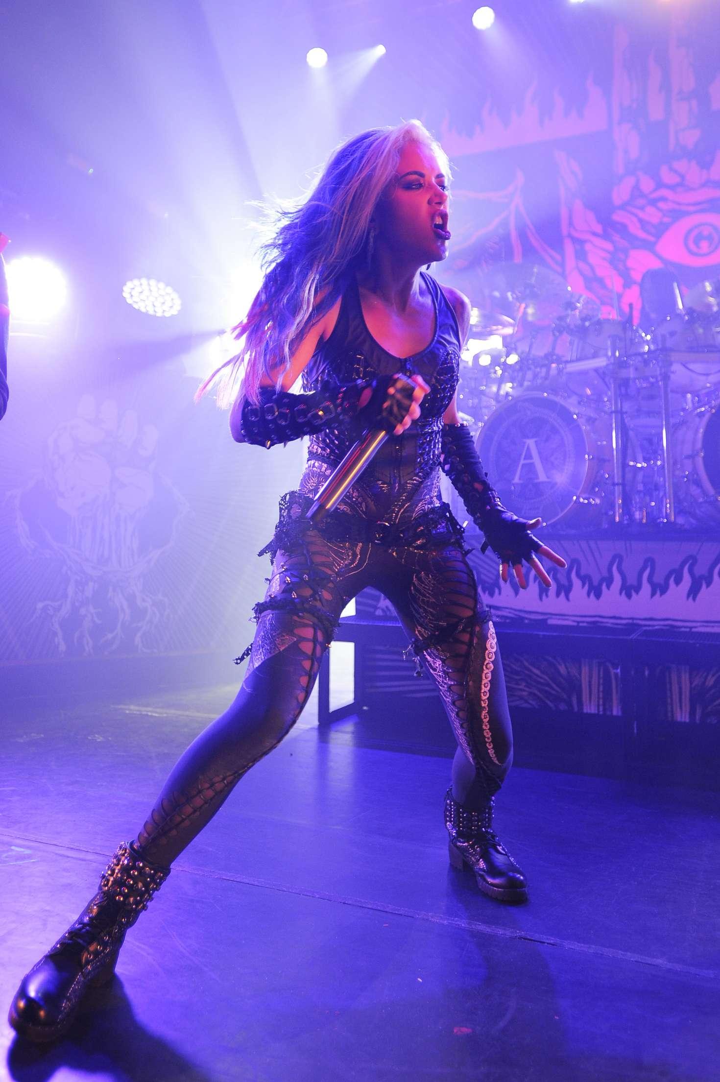 Alissa White Gluz Arch Enemy Performing At Koko 47 Gotceleb