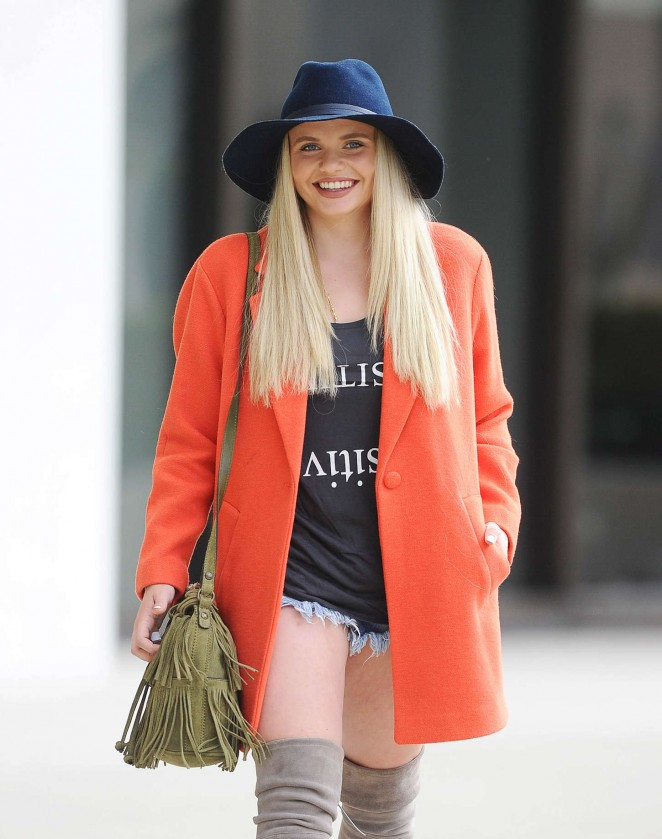 Alli Simpson in Denim Shorts Out in Los Angeles