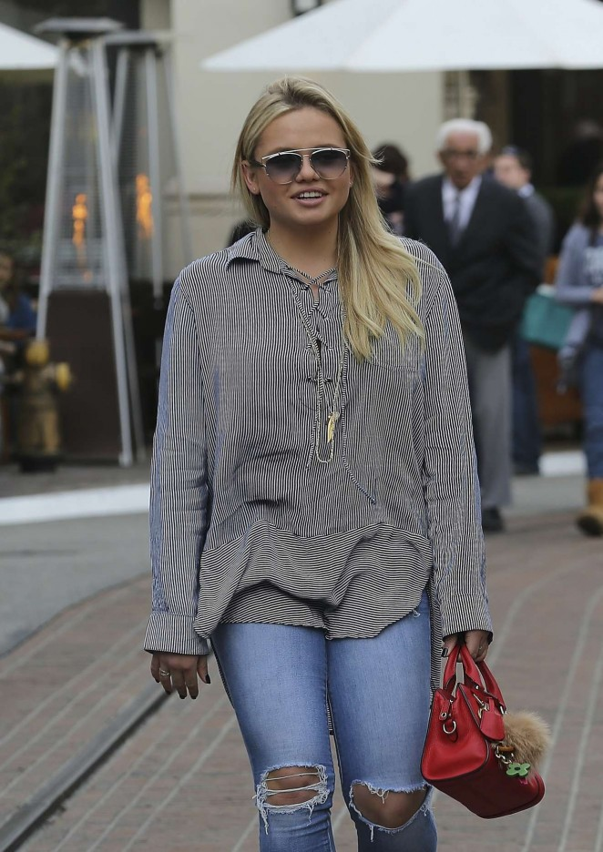 Alli Simpson - Shopping candids at The Grove in West Hollywood