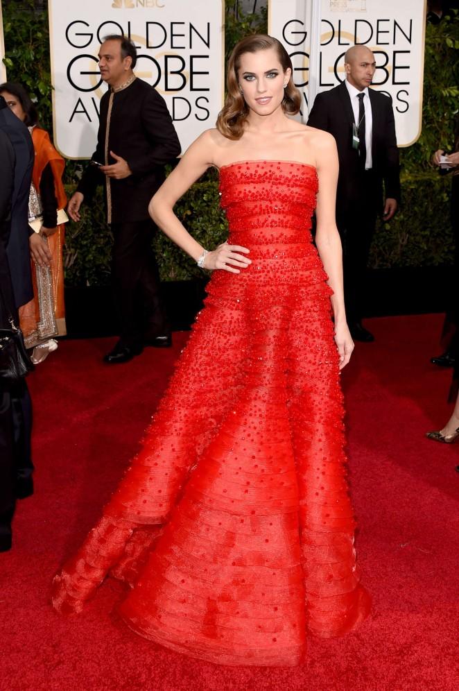 Allison Williams - 2015 Golden Globe Awards in Beverly Hills