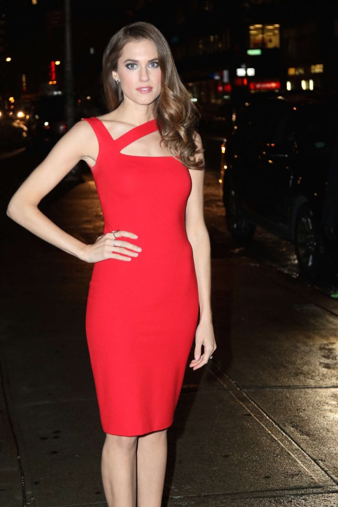 Allison Williams at the 'Late Show with David Letterman' in NYC