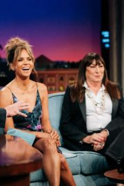 Allison Williams, Halle Berry and Angelica Huston - On The Late Late Show with James Corden in LA