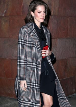 Allison Williams - Leaving 'Late Night with Seth Meyers' in New York