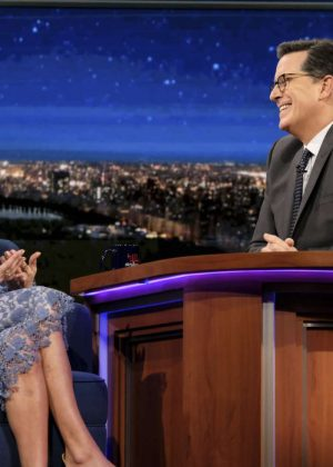 Allison Williams on 'The Late Show with Stephen Colbert' in New York