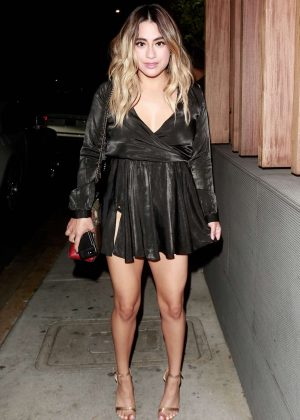 Ally Brooke in Mini Dress - Leaving Nobu in Malibu