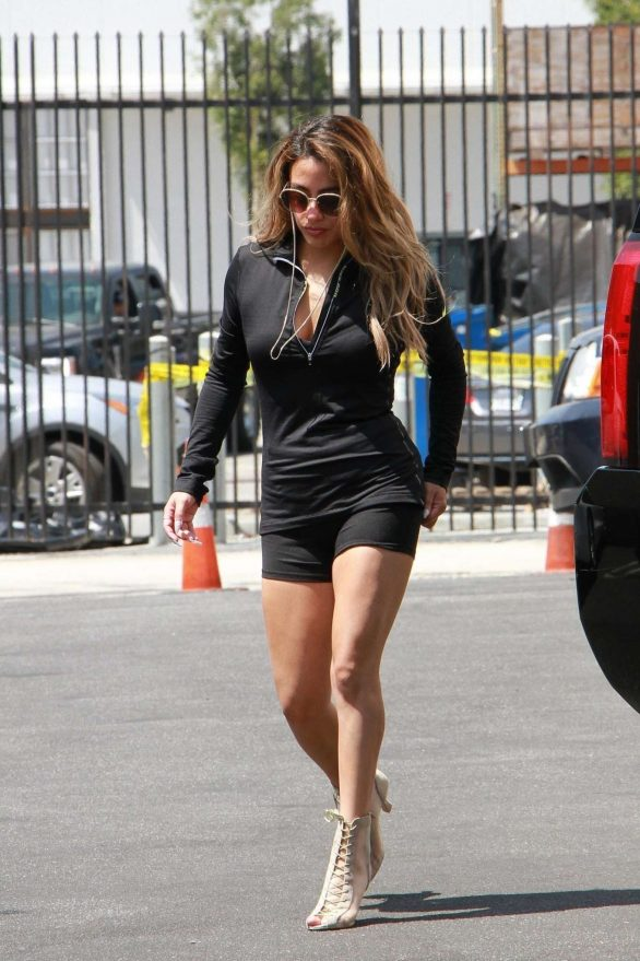 Ally Brooke - Seen at the DWTS dance studio in Los Angeles