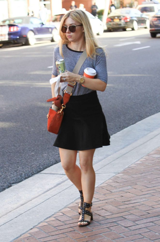 Alona Tal in Mini Skirt out in Beverly Hills