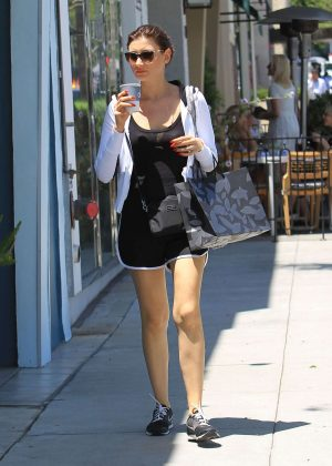 Aly Michalka out in Los Angeles