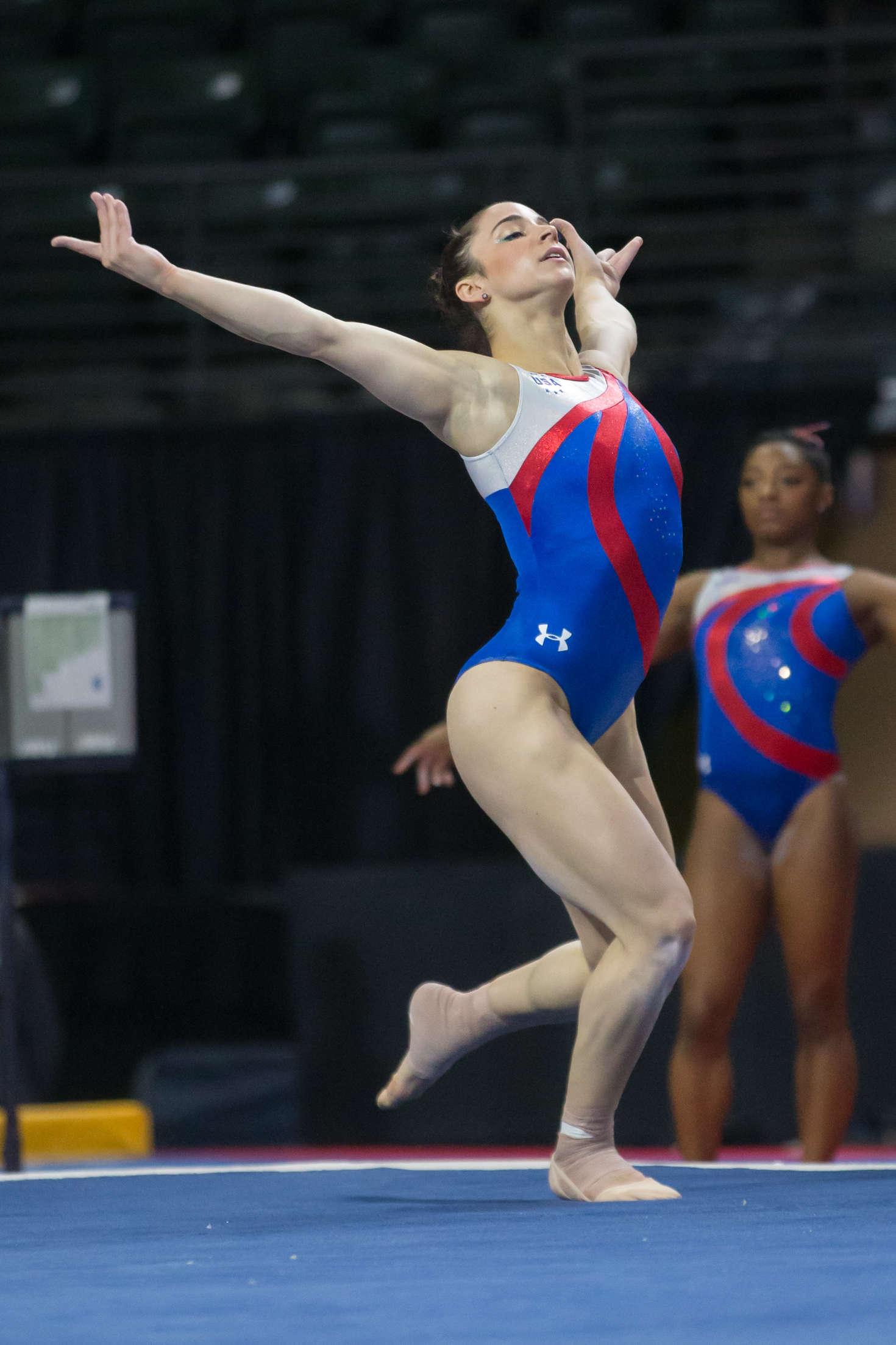 Aly Raisman - 2016 Pacific Rim Gymnastics Championships Podium Training in Everett