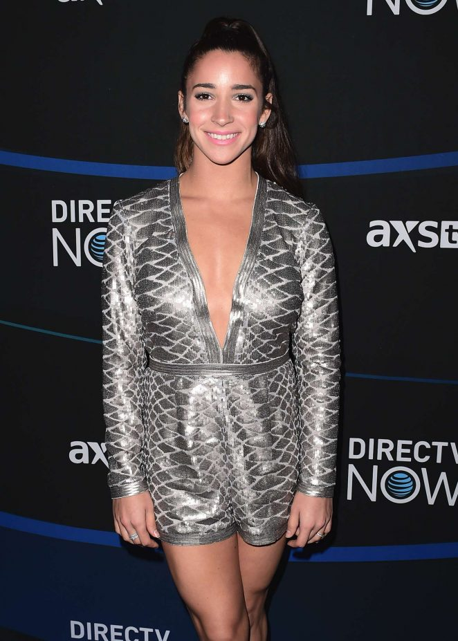 Aly Raisman - DIRECTV NOW Super Saturday Night Concert in Houston