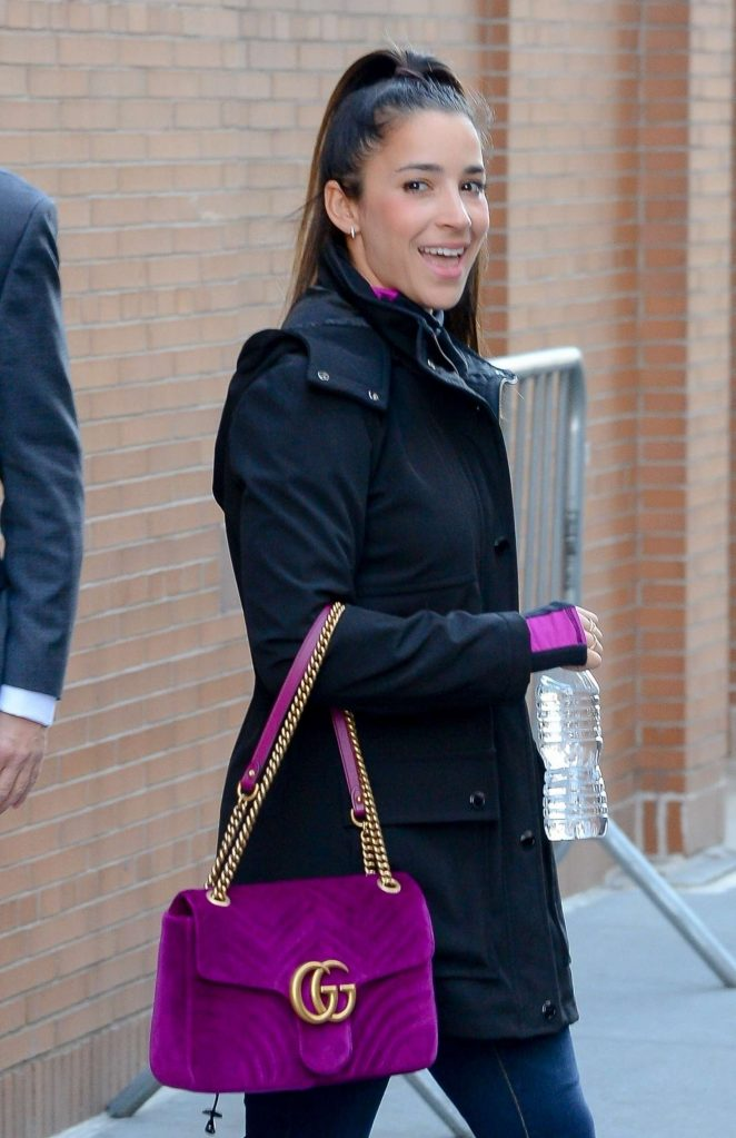 Aly Raisman - Exiting 'The View' in NYC