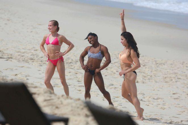8f073b8a55a11 Aly Raisman Madison Kocian and Simone Biles in Bikini -03 | GotCeleb
