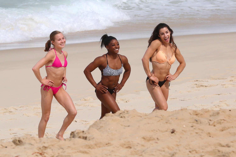 Aly Raisman, Madison Kocian and Simone Biles in Bikini in Rio de Janeiro adds