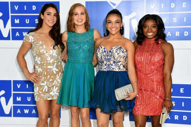 Aly Raisman, Madison Kocian, Laurie Hernandez and Simone Biles - 2016 MTV Video Music Awards in New York City