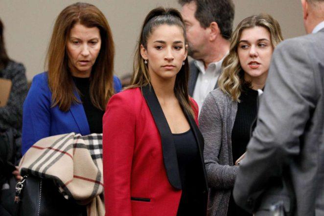 Aly Raisman - Speaking in Court in Michigan
