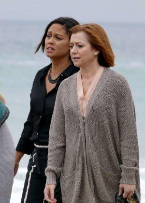 Alyson Hannigan - Filming 'First Wives Club' in Malibu