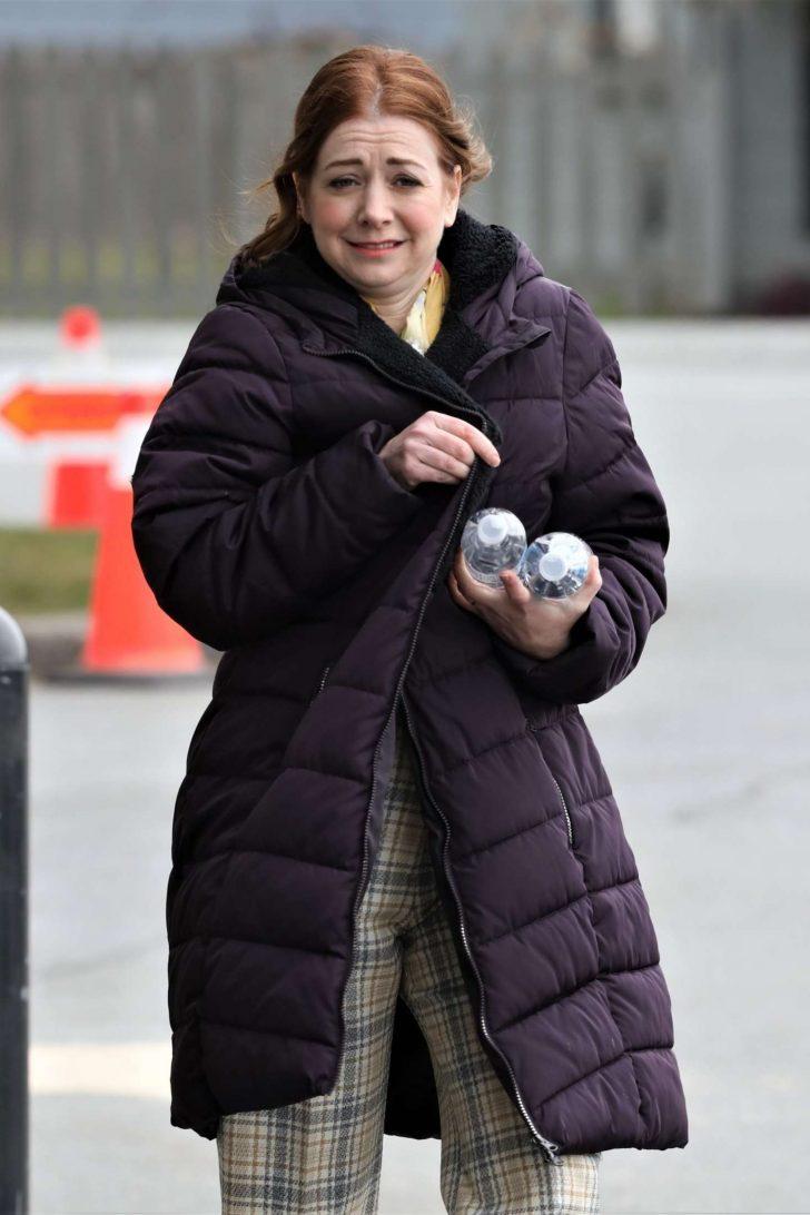 Alyson Hannigan - Filming in Vancouver