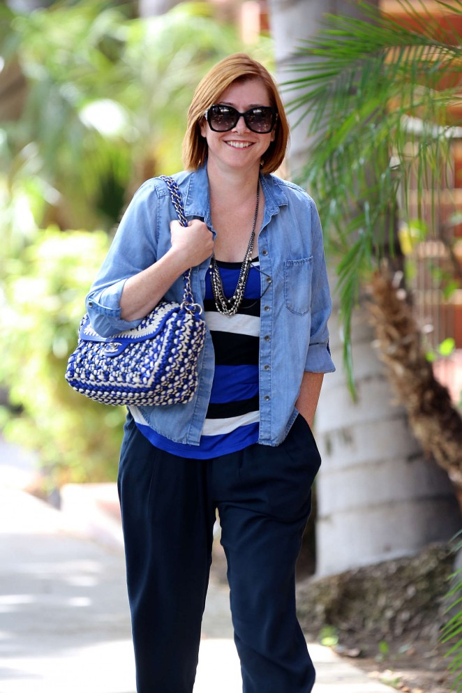 Alyson Hannigan - Out and about in Hollywood