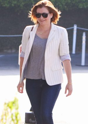 Alyson Hannigan out in Brentwood