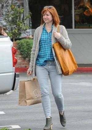Alyson Hannigan out in LA