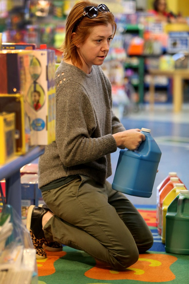 Alyson Hannigan Shopping at a children's store in LA