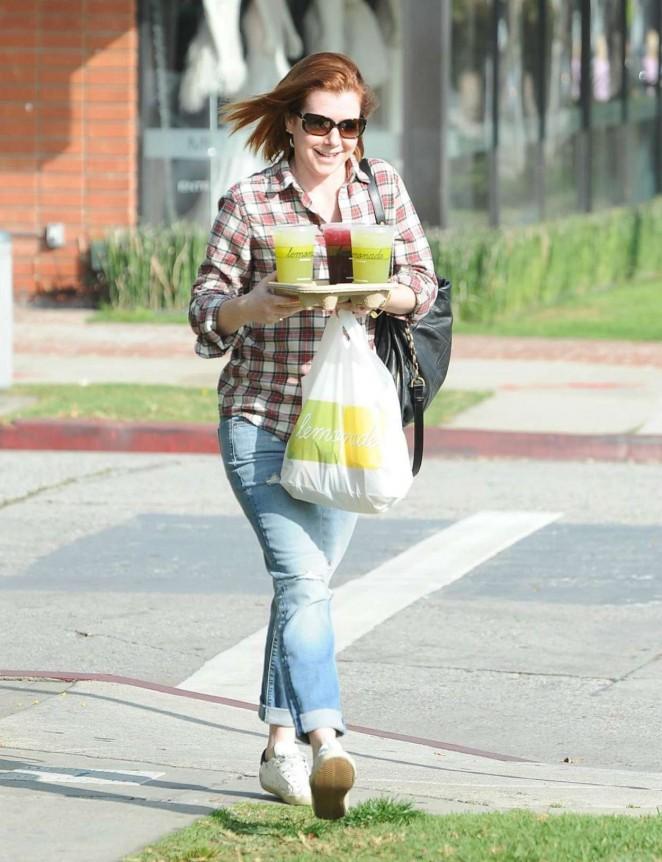 Alyson Hannigan Shopping in Beverly Hills