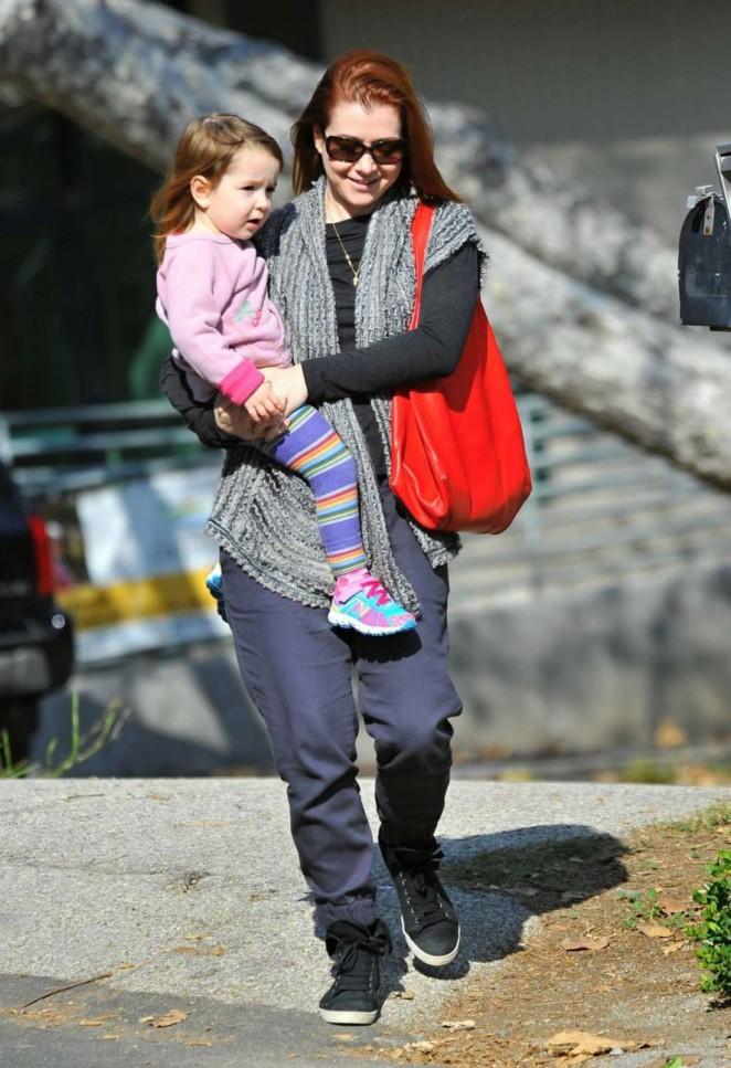 Alyson Hannigan takes her daughter Keeva to LA Park