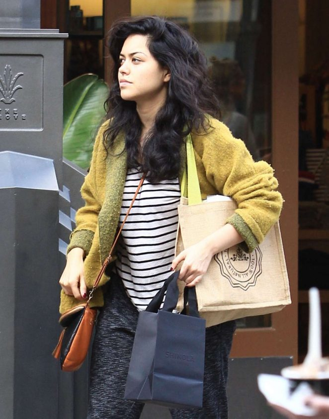 Alyssa Diaz - Christmas shopping at The Grove in Hollywood