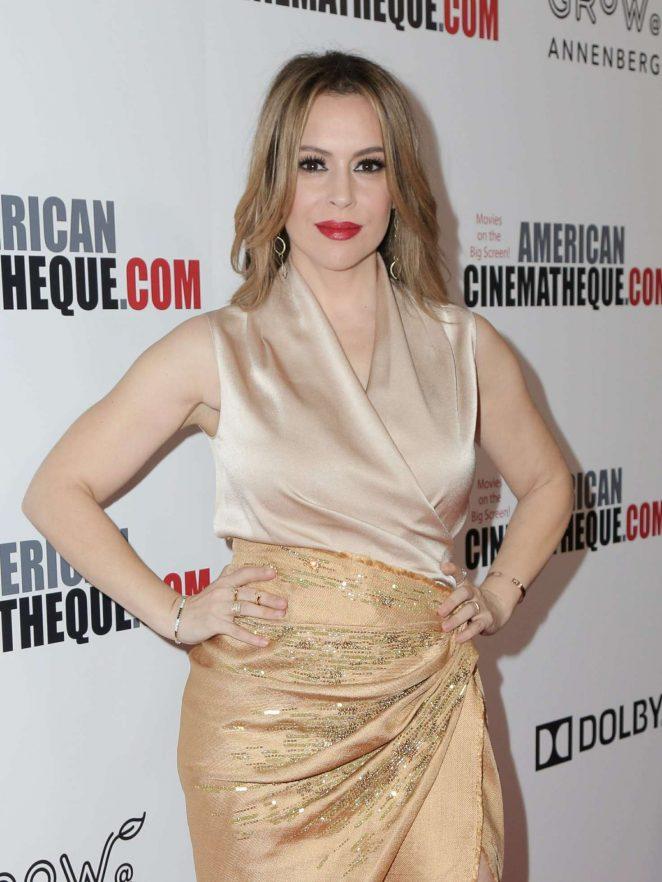 Alyssa Milano - 32nd American Cinematheque Award Presentation in Beverly Hills