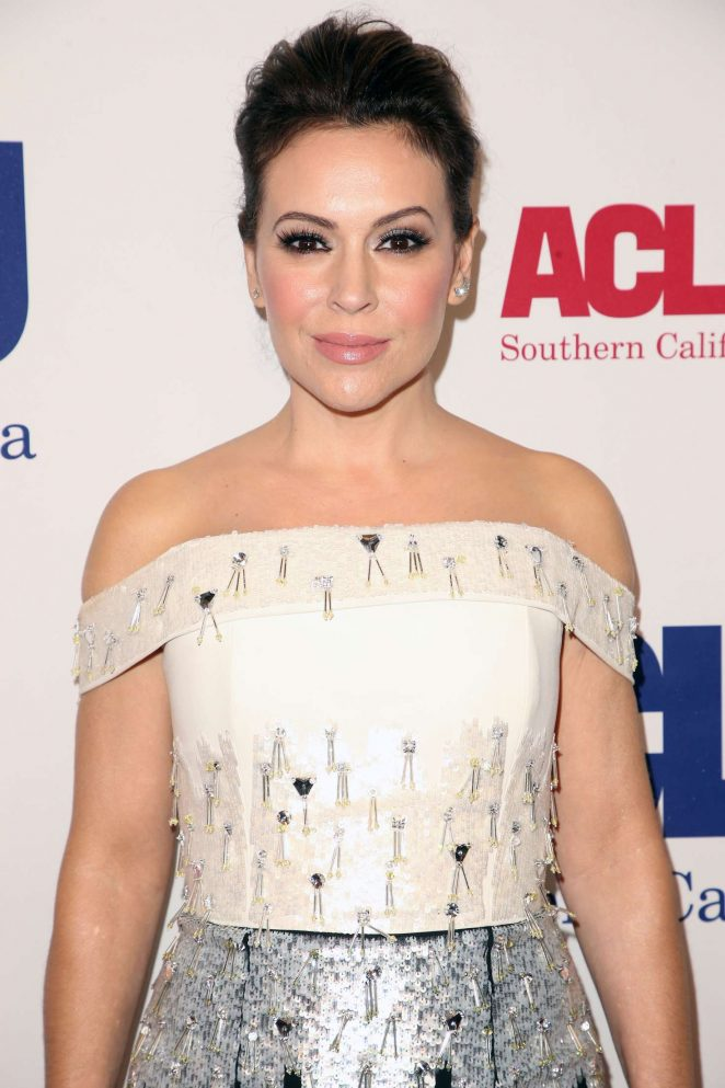 Alyssa Milano - ACLU Bill of Rights Dinner in Los Angeles