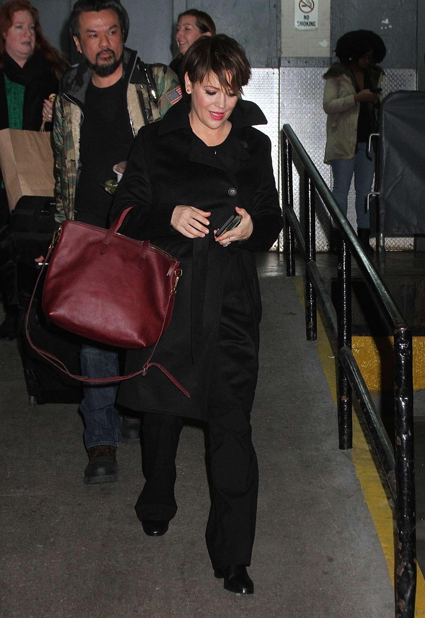 Alyssa Milano - Arrives at Huffington Post Live in New York City
