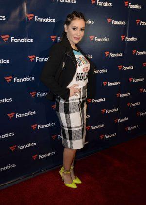 Alyssa Milano - Fanatics Super Bowl Party in Houston