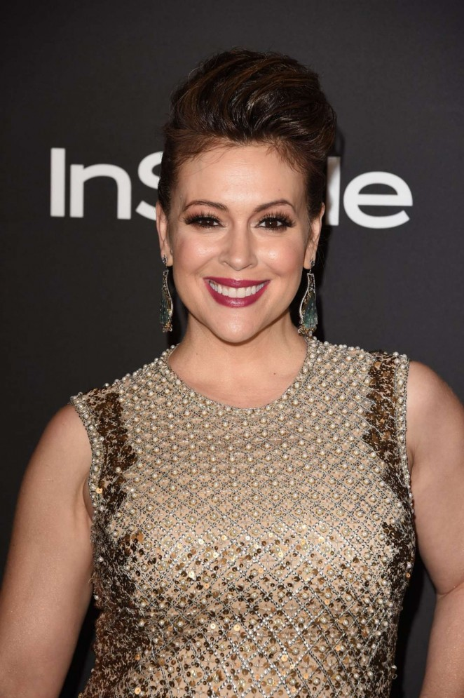 Alyssa Milano - InStyle And Warner Bros Golden Globes Party 2015 in Beverly Hills
