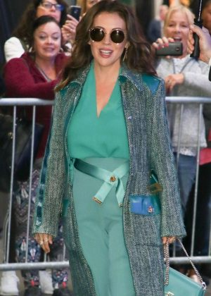 Alyssa Milano - Leaving 'Good Morning America' in New York