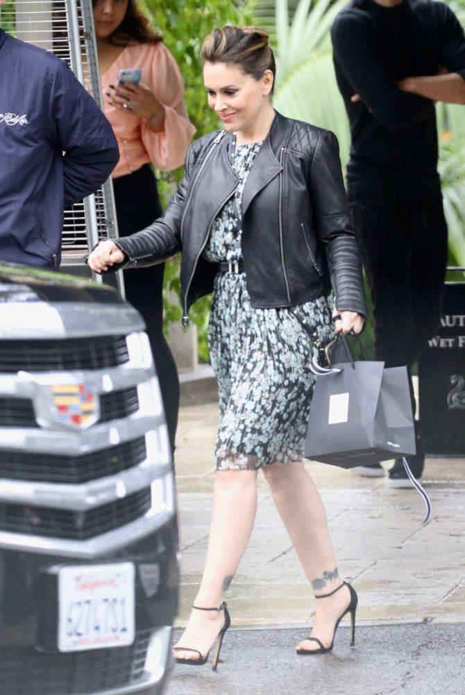 Alyssa Milano – Leaving the Bel Air Hotel in Beverly Hills