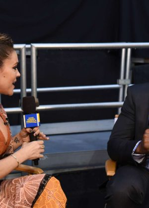 Alyssa Milano on 'Good Morning America' in New York