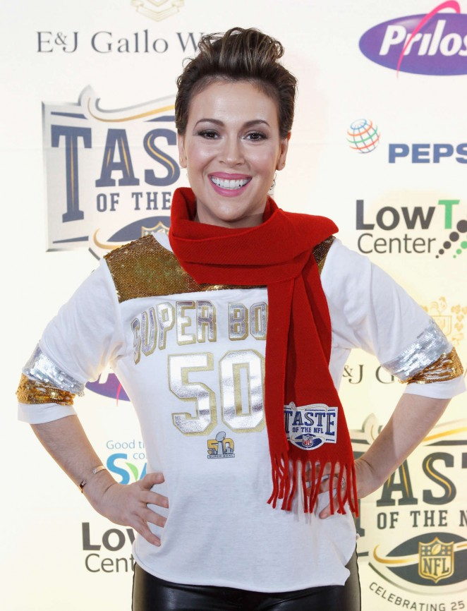 Alyssa Milano – Taste Of The NFL 25th Anniversary Party With A Purpose In San Francisco
