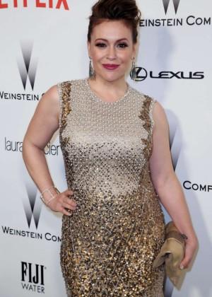 Alyssa Milano - The Weinstein Company & Netflix's Golden Globes Party 2015 in Beverly Hills