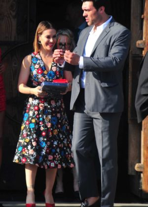 Alyssa Milano with David Bugliari to the Television Industry Advocacy Awards at TAO Hollywood