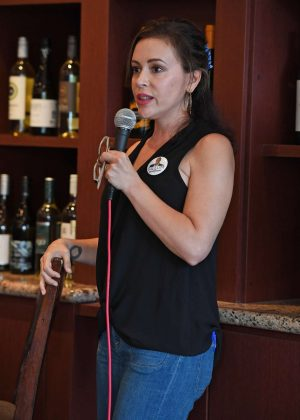 Alyssa Milano - Women for Andrew Gillum Campaign Event in Hollywood