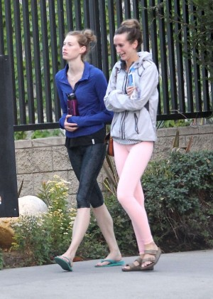 Alyssa Sutherland in Tights Leaves a Yoga in Los Angeles