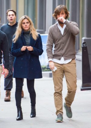 Amaia Salamanca and Rosauro Varo Rodríguez Leaving lunch in New York City