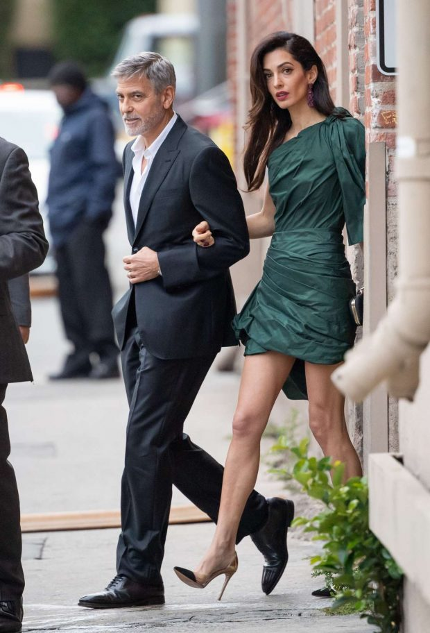 Amal and George Clooney: Arrives at Jimmy Kimmel Live -02