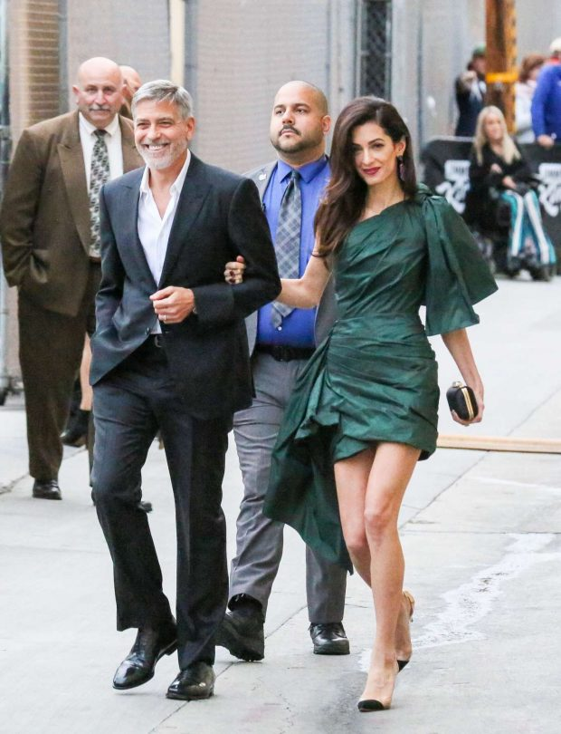 Amal and George Clooney: Arrives at Jimmy Kimmel Live -03